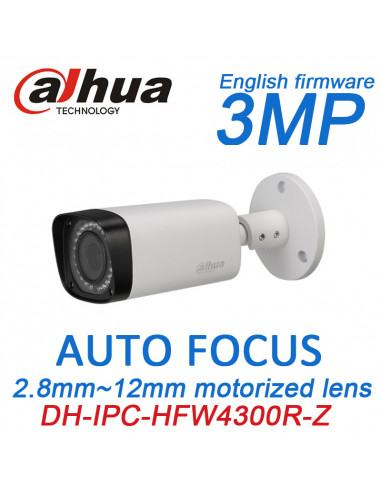 3MP Full HD IR-Bullet Motorise lens Camera DH-IPC-HFW4300R-Z