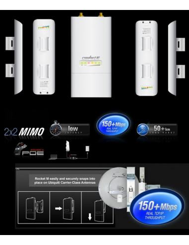 Ubiquiti Rocket M5 with 2xNanostation M5 - fastest PtMP 5.8ghz link
