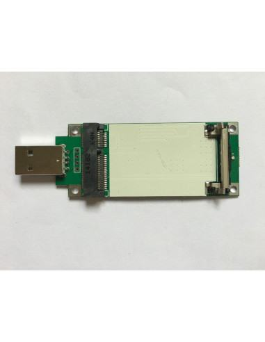 mPCIe to USB 2.0 Adapter with SIM/UIM Slot