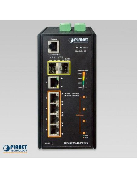 IGS-5225-4UP1T2S PLANET Industrial Managed Gigabit PoE Switch