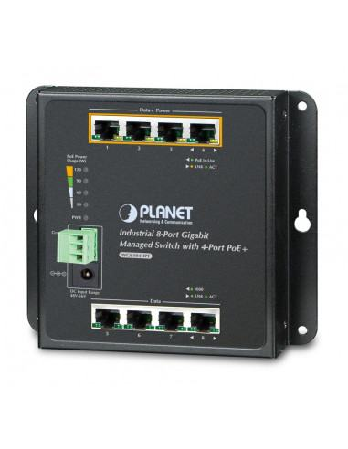 WGS-804HPT PLANET Industrial Managed Gigabit PoE Switch