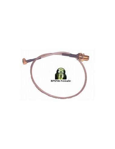 MMCX to RP-SMA Bulkhead Pigtail